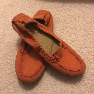 Orange loafers!